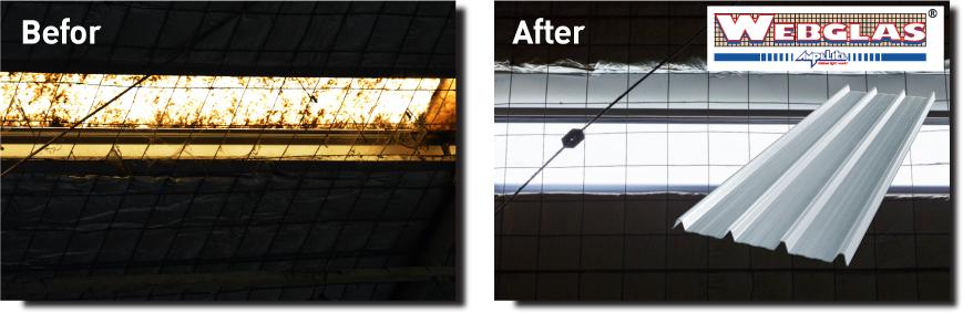Re Roof หลังคาไฟเบอร์กลาสโปร่งแสง